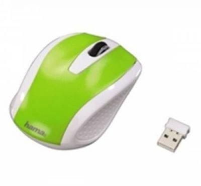 Bezdrátová optická myš AM-7200, bílo-zelená