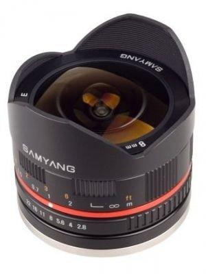 Samyang 8mm f/2,8 rybí oko Fuji X černý