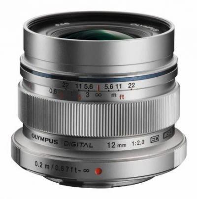 Olympus M.ZUIKO ED 12mm f/2,0 EW-M1220 stříbrný