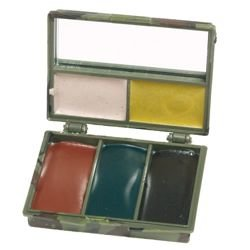 Barvy maskovací KRABIČKA 5 barev se zrcátkem