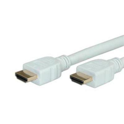 HDMI kabel High Speed kabel 1.4, HDMI M/ HDMI M, 2m zlacený, bílý