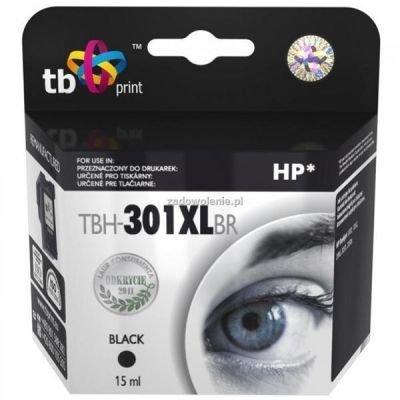 Inkoustová náplň TB HP CH563EE (No.301XL) refil kompatibilní - černá