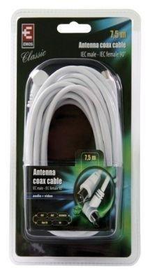 Kabel anténní Emos SB3107 - účastnická šňůra 7,5m