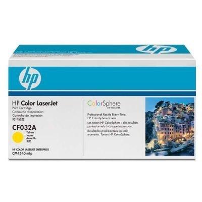 Toner HP CF032A, 12,5K stran originální - žlutá