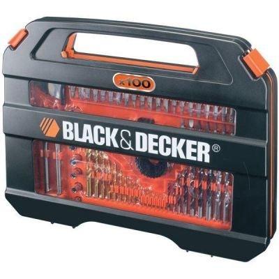 Sada nářadí Black&Decker A7154 100dílná sada vrtáků a šroubovacích nástavců