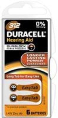 Baterie do naslouchadel Duracell DA312 P6 Easy Tab