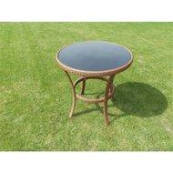 Stůl Royal ratan 70cm hnědý