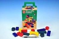 Kostky dřevěné barevné 75ks v krabici