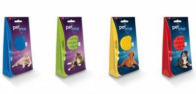 | Pet and Me Kartáč pro psy krátká srst Žlutý 1ks