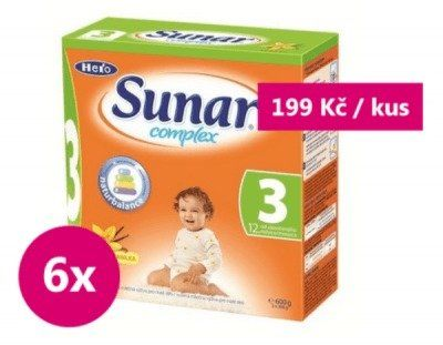 Sunar complex 3 vanilka 6 x 600g - výhodné balení
