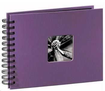 Album klasické spirálové FINE ART 24x17 cm, 50 stran, lila