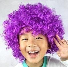 Paruka Afro - fialová