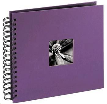 Album klasické spirálové FINE ART 28x24 cm, 50 stran, lila