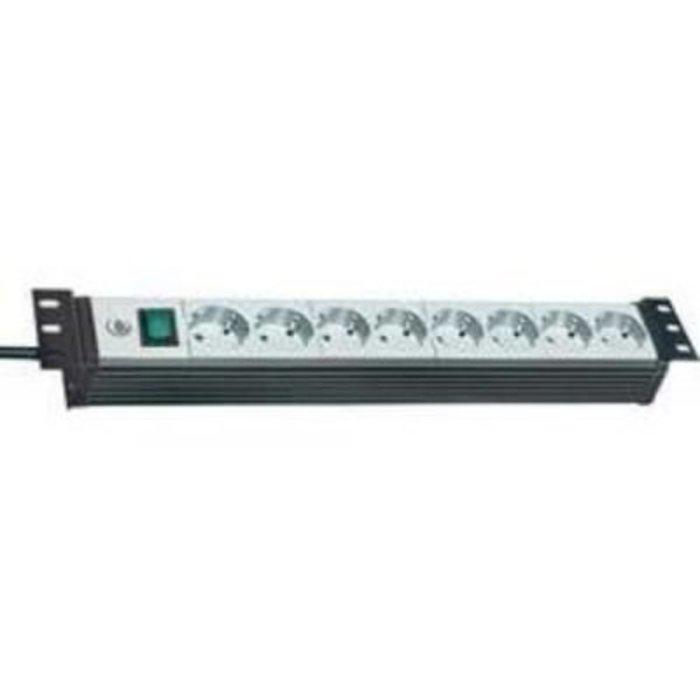 Zásuvková lišta Brennenstuhl Premium-Line, 1156057018, 8 zásuvek, černá/šedá