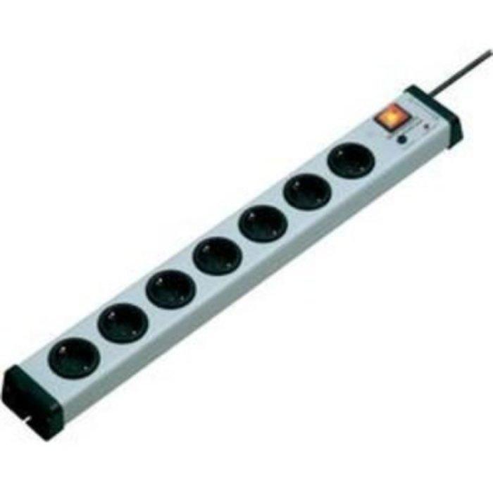 Zásuvková lišta s přepěťovou ochranou Ehmann Akustik plus, 7 zásuvek, šedá