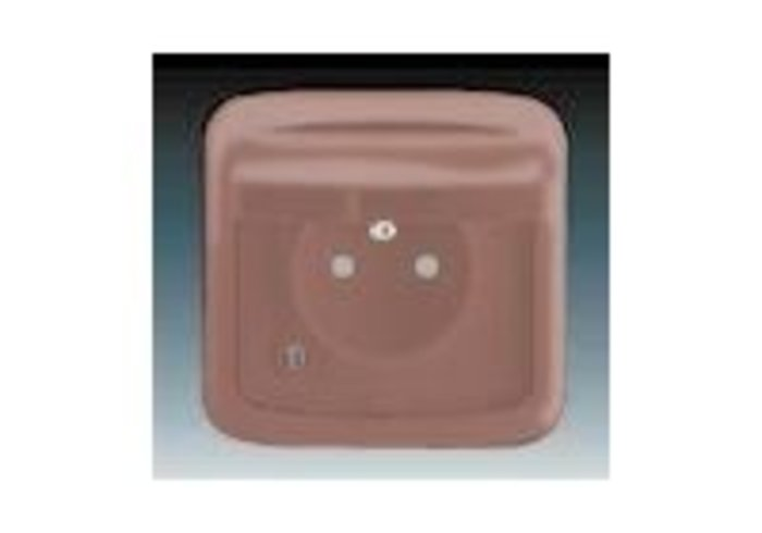 Tango® Zásuvka jednonásobná IP 44, s ochranným kolíkem, s clonkami, s víčkem, vřesová červená (5518A-2999 R2)