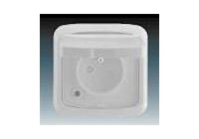 Tango® Zásuvka jednonásobná IP 44, s ochranným kolíkem, s clonkami, s víčkem, šedá (5518A-2999 S)