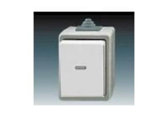 Praktik Ovládač zapínací IP 44 s čirým průzorem, šedá (3553-91922 S)
