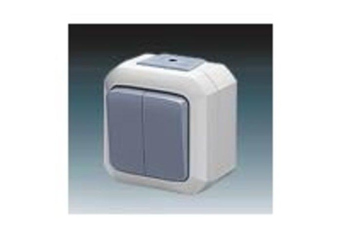 Variant+ Přepínač střídavý dvojitý IP 54, modrá (3558N-C52510 M)