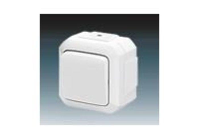 Variant+ Přepínač střídavý IP 54, pro průběžnou montáž, bílá (3558N-C06540 B)