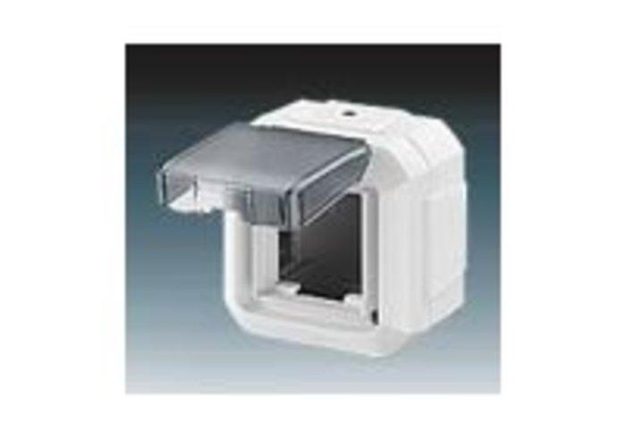 Variant+ Krabice nástěnná IP 54, pro přístroje 45x45, s víčkem, pro průběžnou montáž, bílá (3903N-C06541 B)