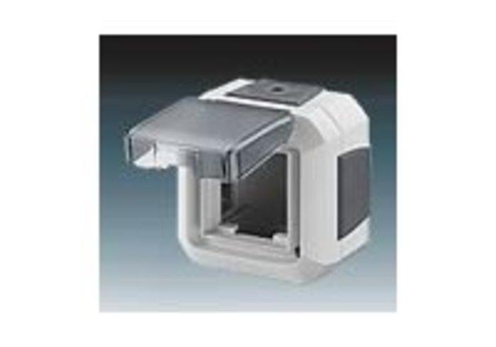 Variant+ Krabice nástěnná IP 54, pro přístroje 45x45, s víčkem, pro průběžnou montáž, šedá (3903N-C06541 S)