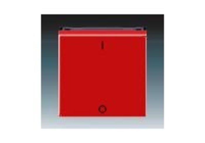 Kryt jednoduchý s potiskem, pro spínače ř. 3 LEVIT červená/kouřová černá 3559H-A00933 65