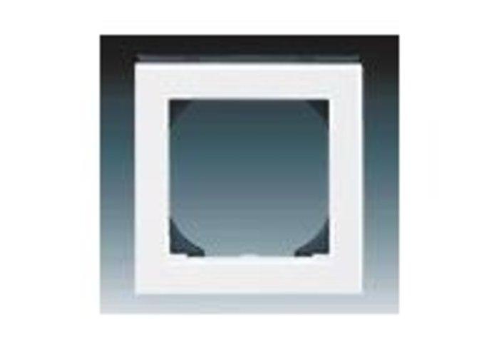 Rámeček jednonásobný s otvorem 55x55 LEVIT bílá/kouřová černá 3901H-A05510 62