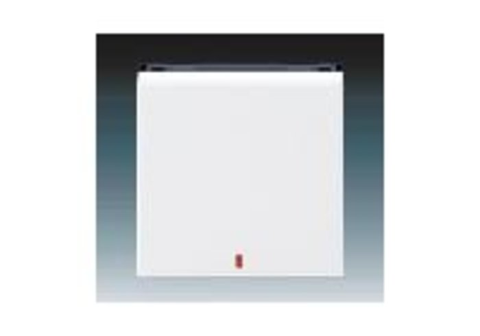 Kryt s červeným průzorem LEVIT bílá/kouřová černá 3559H-A00655 62