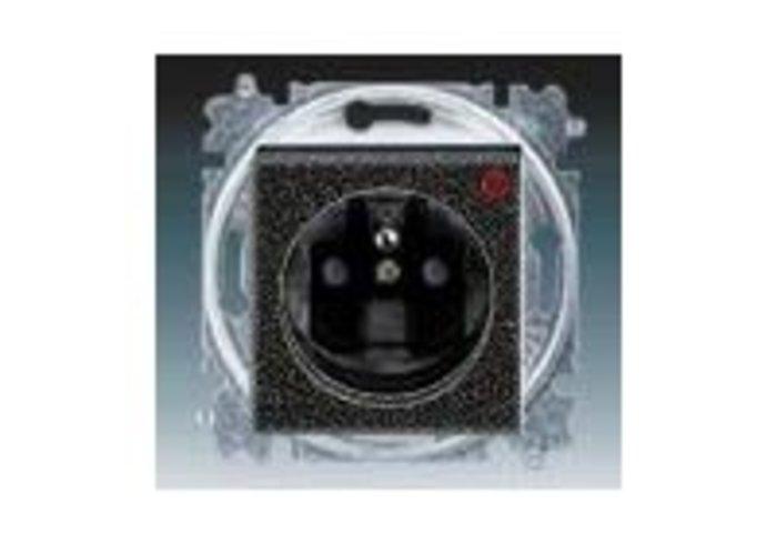 Zásuvka jednonásobná, přepěťová ochrana LEVIT onyx/kouřová černá 5599H-A02357 63