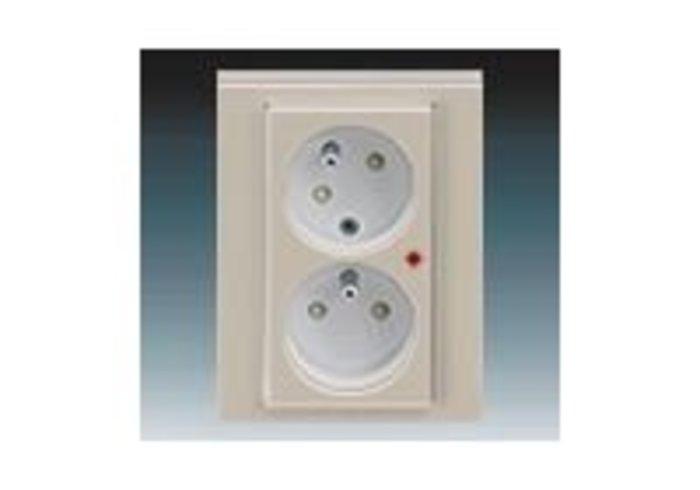 Zásuvka dvojnásobná přepěťová ochrana LEVIT macchiato/bílá 5593H-C02357 18
