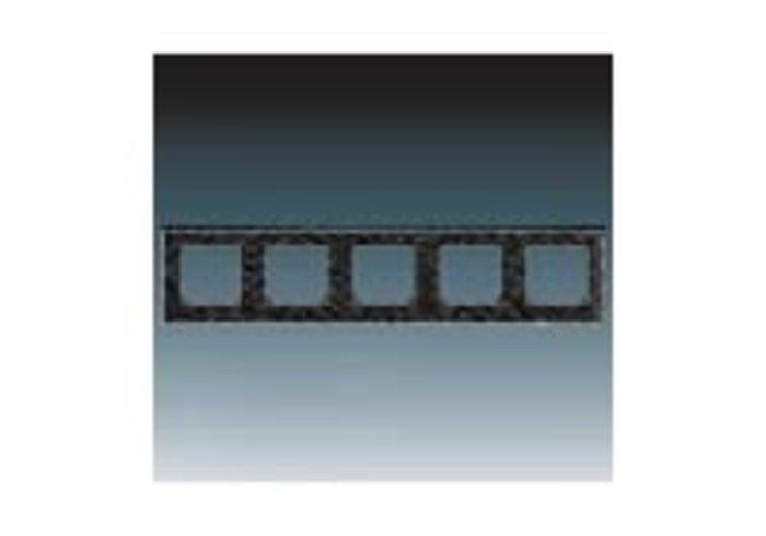 Rámeček pětinásobný, vodorovná i svislá montáž LEVIT onyx/kouřová černá 3901H-A05050 63