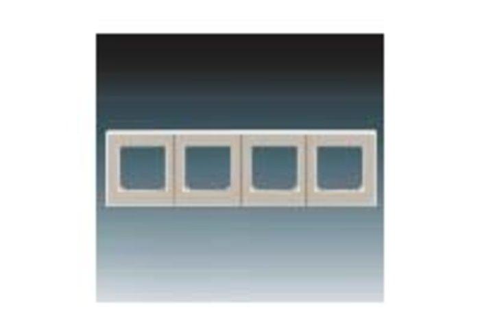 Rámeček čtyřnásobný, vodorovná i svislá montáž LEVIT macchiato/bílá3901H-A05040 18