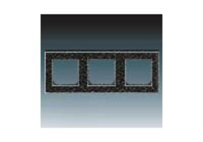 Rámeček trojnásobný, vodorovná i svislá montáž LEVIT onyx/kouřová 3901H-A05030 63