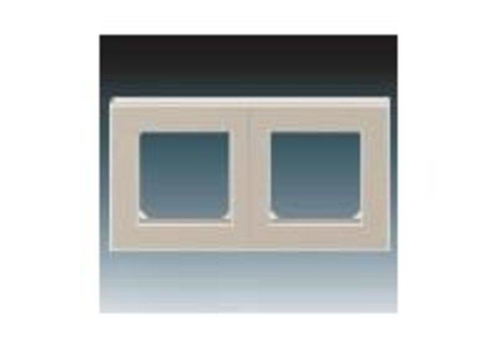 Rámeček dvojnásobný, vodorovná i svislá montáž LEVIT macchiato/bílá 3901H-A05020 18