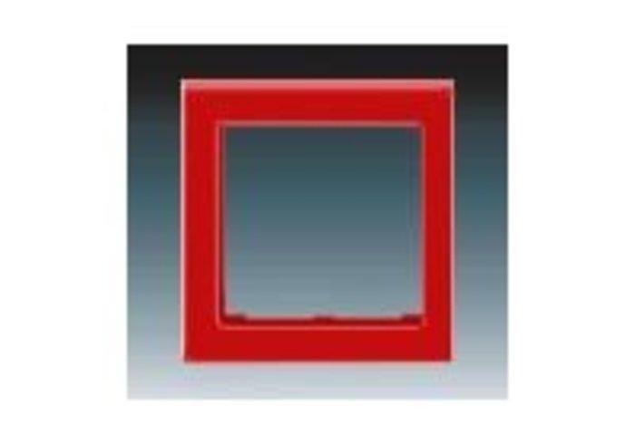 Kryt rámečku s otvorem 55x55, krajní LEVIT červená 3901H-A00255 65
