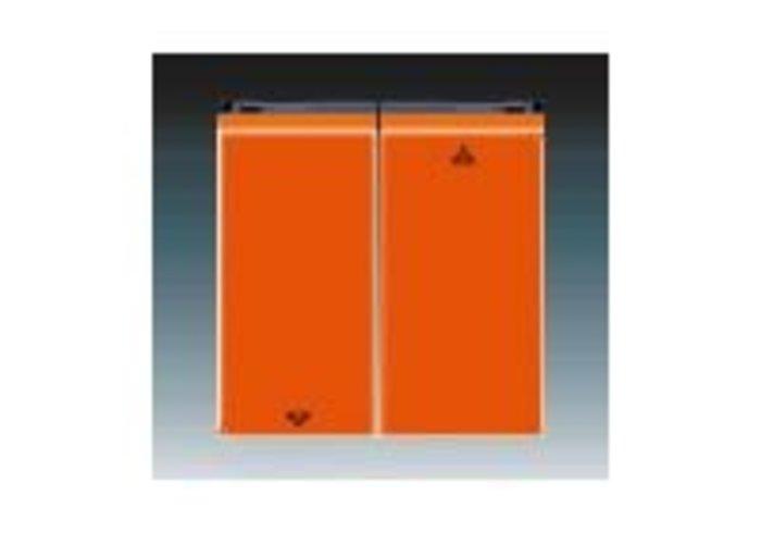 Kryt spínače žaluziového, dělený s potisk. LEVIT oranžová/kouřová černá 3559H-A00662 66