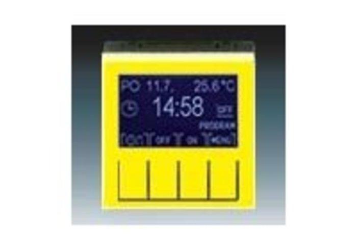 Hodiny spínací program LEVIT žlutá/kouřová černá 3292H-A20301 64