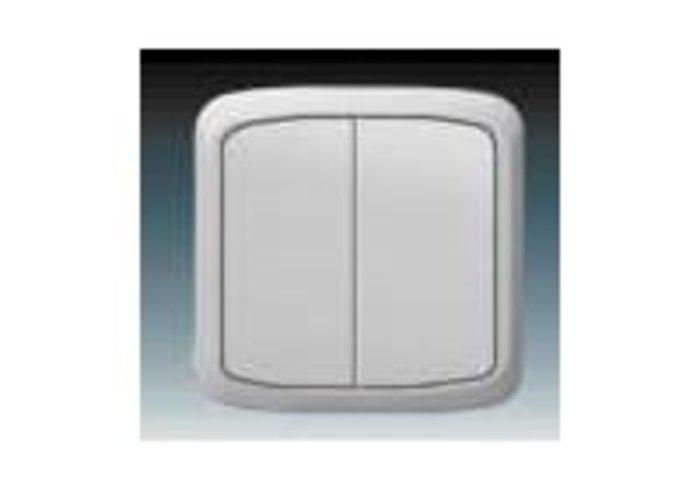 Tango® Přepínač střídavý dvojitý IP 44, zapuštěný, šedá (3558A-52940 S)