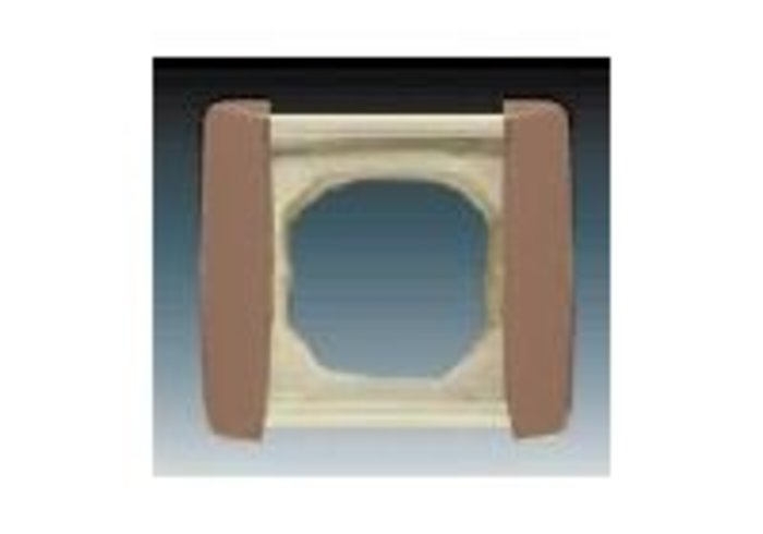 Element® Rámeček pro elektroinstalační přístroje IP 44, jednonásobný, kávová (3901E-A00941 H5)