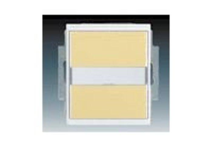 Element® Ovládač přepínací IP 44, s popisovým polem, zapuštěný, slonová kost / ledová bílá (3558E-A86910 21)