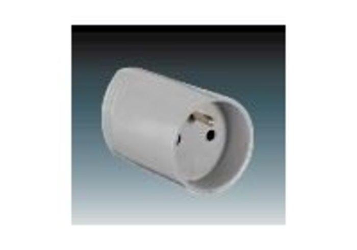 Zásuvka pohyblivá s ochranným kolíkem, s přímým vývodem, šedá (5543N-C02100 S)