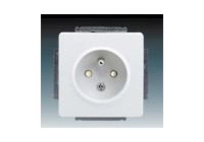 Swing®, Swing®L Zásuvka jednonásobná s ochranným kolíkem, s clonkami, jasně bílá (5518G-A02359 B1)