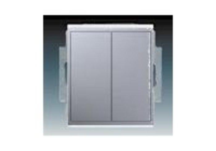 Time® Přepínač sériový IP 44, zapuštěný, titanová (3558E-A05940 08)
