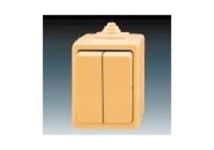Praktik Přepínač sériový IP 44, béžová (3553-05929 D)