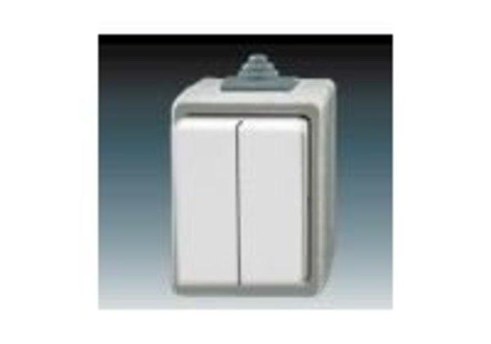 Praktik Přepínač sériový IP 44, šedá (3553-05929 S)