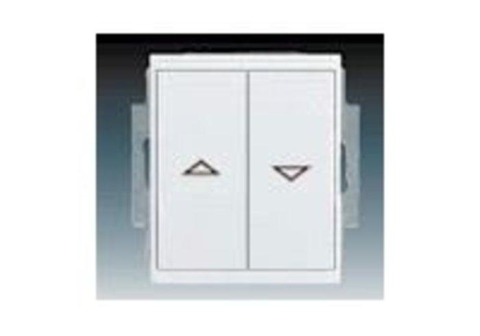Time®, Element® Ovládač žaluziový jednopólový IP 44, zapuštěný, bílá / ledová bílá (3558E-A88943 01)
