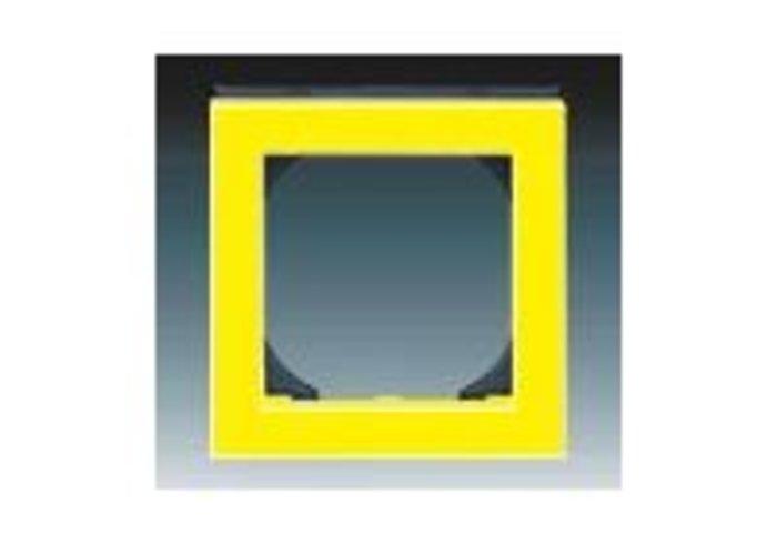 Rámeček jednonásobný s otvorem 55x55 LEVIT žlutá/kouřová černá 3901H-A05510 64