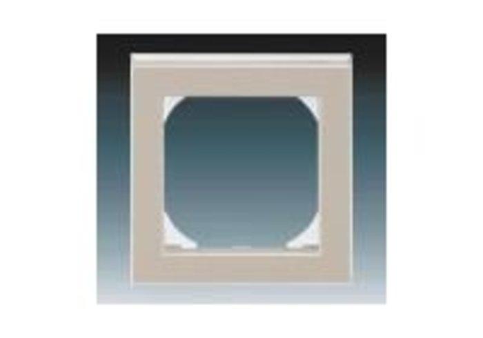 Rámeček jednonásobný s otvorem 55x55 LEVIT macchiato/bílá 3901H-A05510 18
