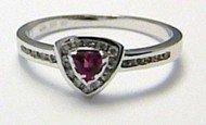 Diamantový mohutný zásnubní prsten se turmalínem 585/1,67g vel.53 SKLADEM!! D006